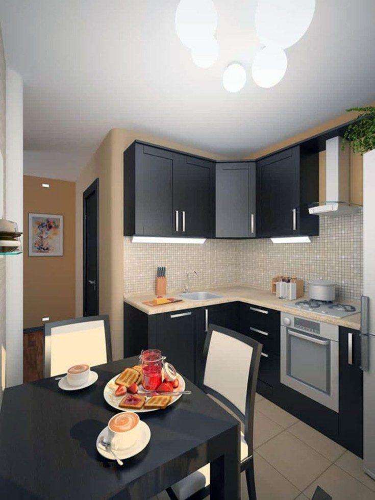 Секреты удачного дизайна для маленькой кухни 6 кв метров 58 фото