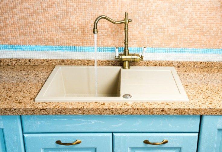 (+65 фото) Кухонные мойки из искусственного камня 45 фото