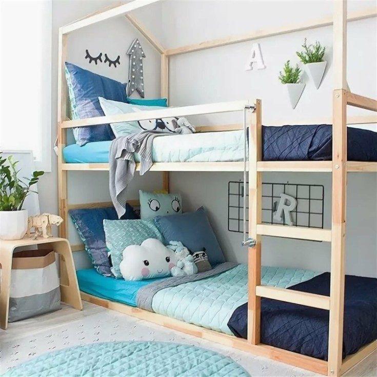 Двухъярусные кровати в интерьере детской 56 фото