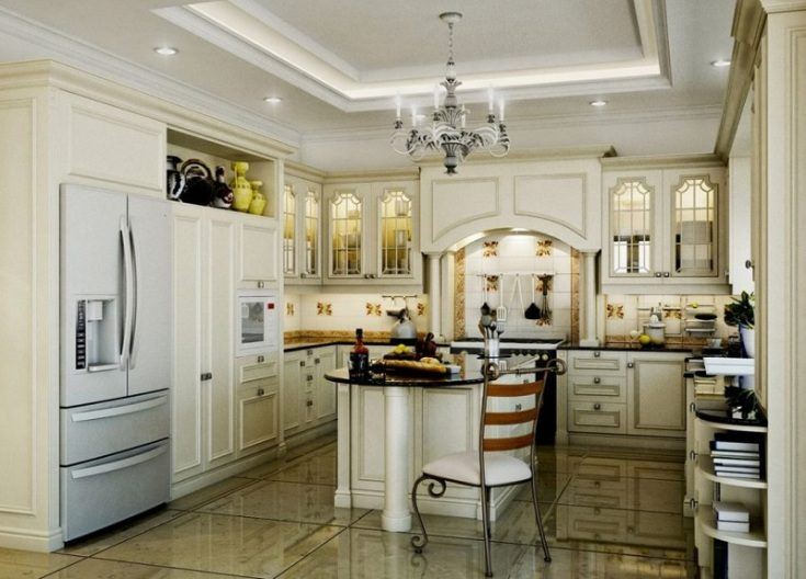 (+80 фото) Кухня в стиле Неоклассика