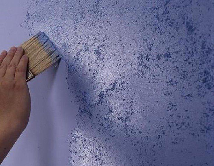 (+65 фото) Краска для стен фактурная