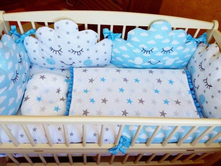 (+95 фото) Бортики в кроватку для новорождённых своими руками