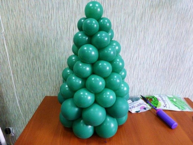 Елка из шариков своими руками мастер класс