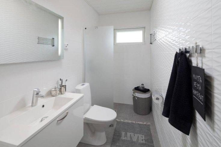 (+85 фото) Ванная в скандинавском стиле