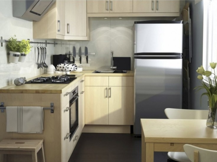 Дизайн в кухне 6кв метров в хрущёвке примеры с холодильником 42 фото