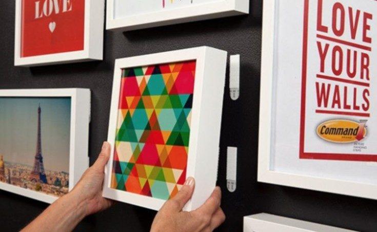 7 способов Как повесить картину без сверления стен + бонус
