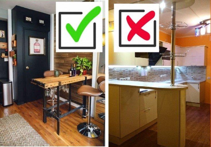 (+73 фото) Барные стойки на кухне дизайн фото