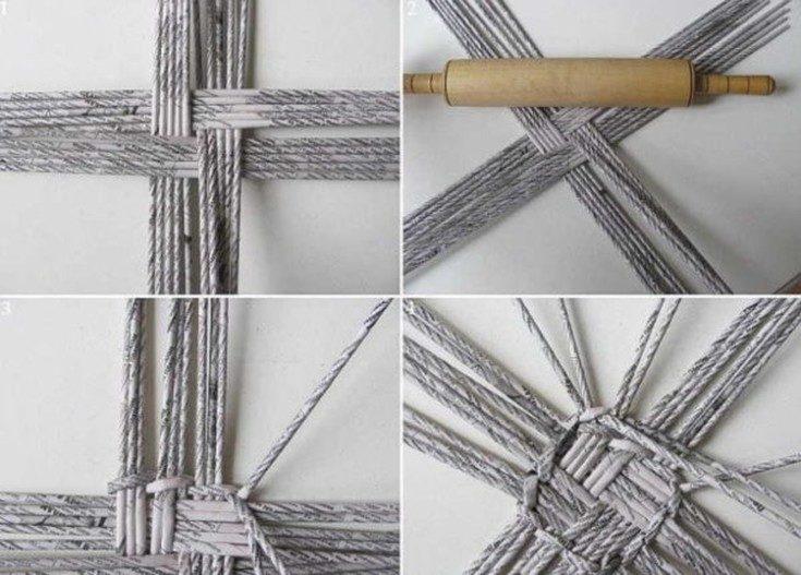 (+99 фото) Плетение из газетных трубочек пошагово для начинающих с фото-примерами