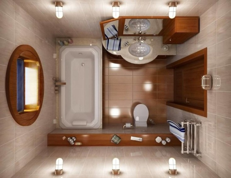 Дизайн ванной 5 кв метров