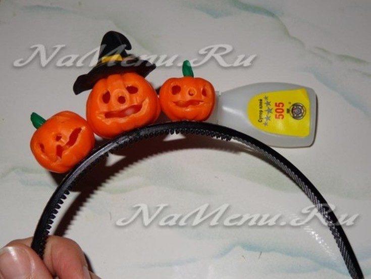 Как сделать ободок на Хэллоуин своими руками