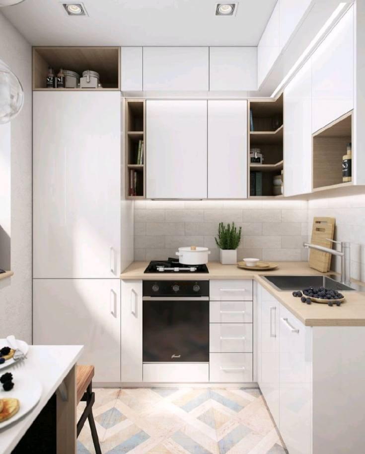 (+50 фото) Планировка кухни 6 кв м с холодильником