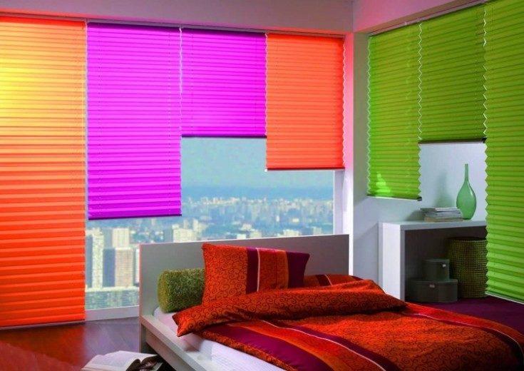 Жалюзи на окна в интерьере разных комнат