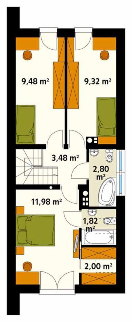 (+50 фото) Планировка дома до 100 кв м одноэтажный