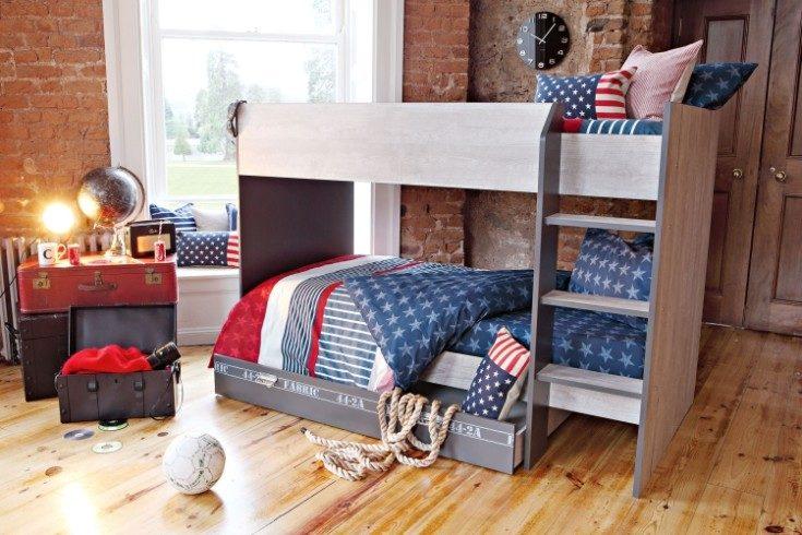 (+74 фото) Двухъярусные кровати в интерьере детской 56 фото