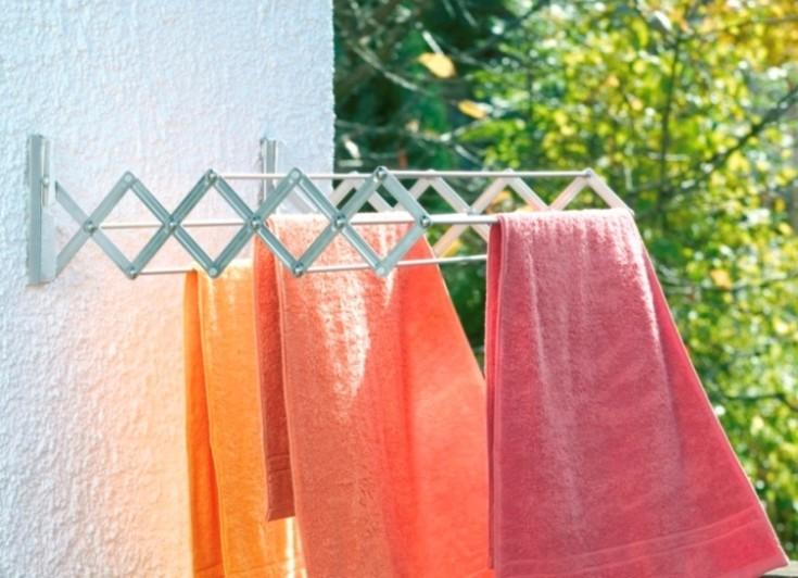 Сушилки для белья на балкон: разновидности