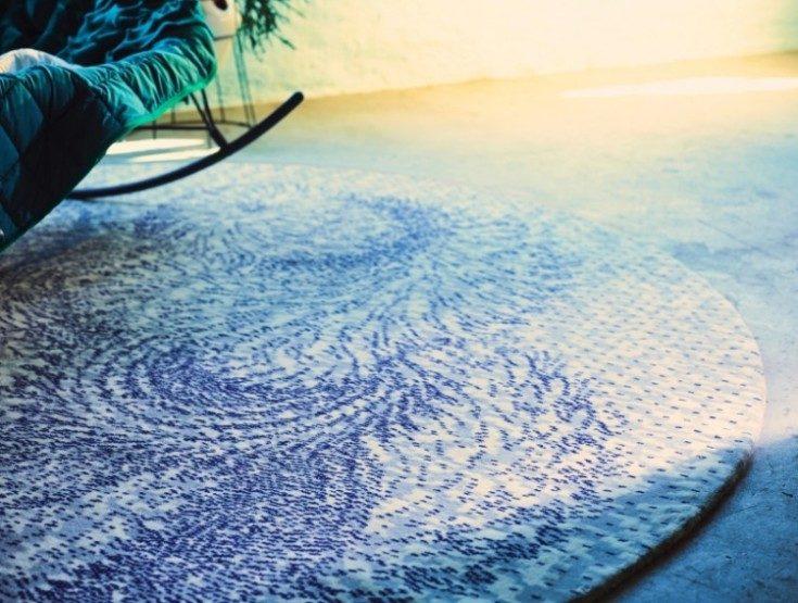 (+56 фото) Круглые ковры Икеа и Леруа в интерьере 56 фото