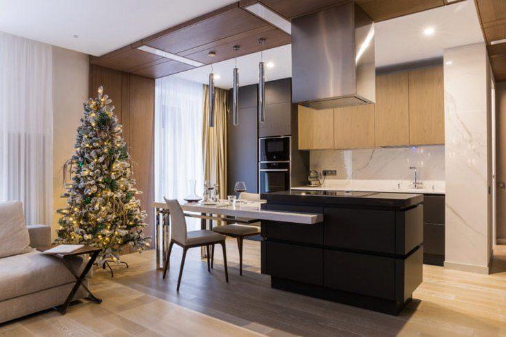 (+86 фото) Кухня совмещенная с гостиной