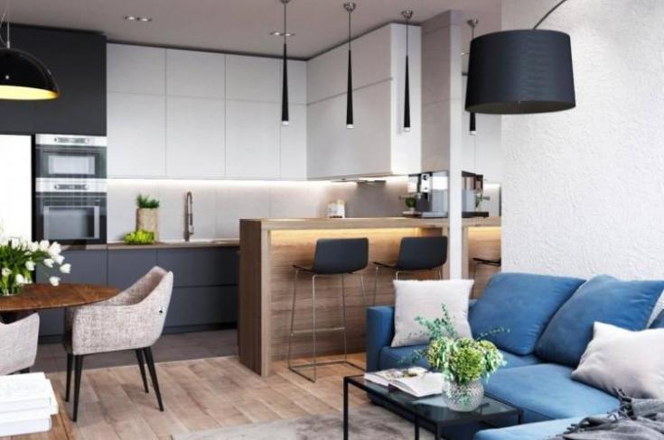 (+60 фото) Планировка кухни гостиной 20 кв м прямоугольная