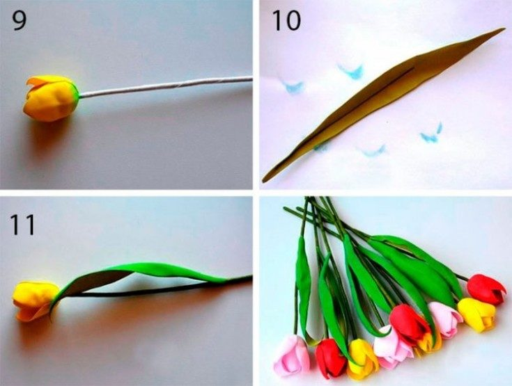 Цветы из фоамирана своими руками для начинающих