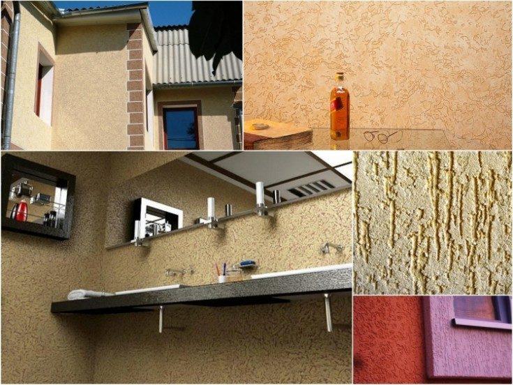 (+64 фото) Виды декоративной штукатурки для внутренней отделки советы по выбору