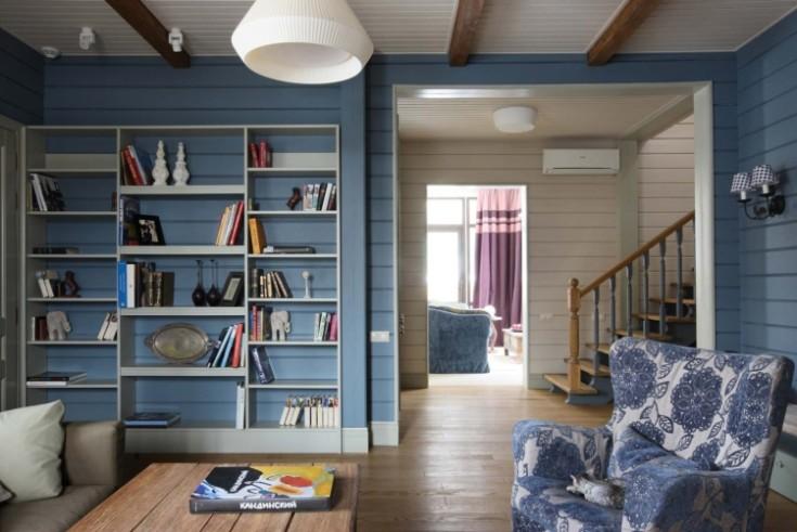 Покраска вагонки внутри дома в разные цвета фото интерьеров