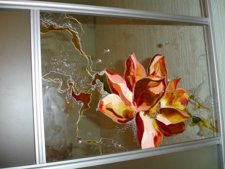 Роспись по стеклу своими руками 65 фото