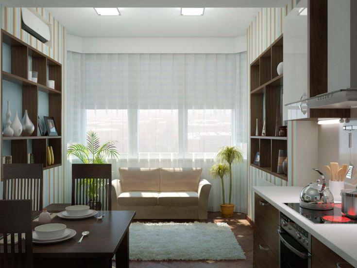 (+50 фото) Планировка кухни 12 кв м с диваном