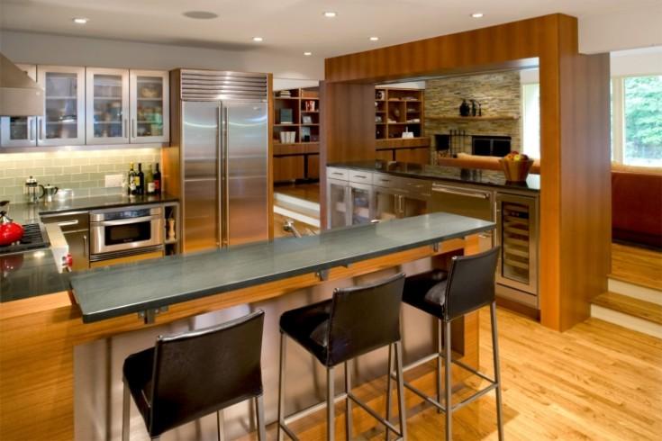 Дизайн барной стойки для кухни 55 фото