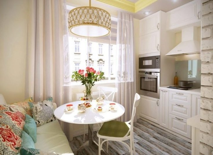 (+81 фото) Кухня 10 кв. метров: планировки с диваном, балконом, окном
