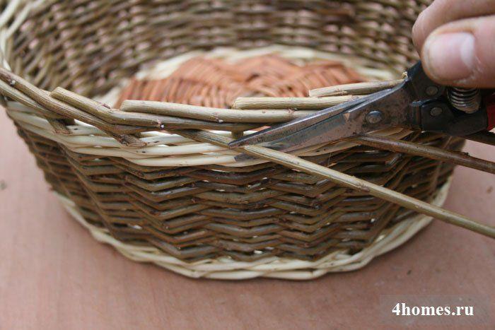 Корзины из лозы и ивы пошаговая инструкция для начинающих