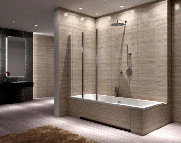 Перегородка для ванной: какие бывают?