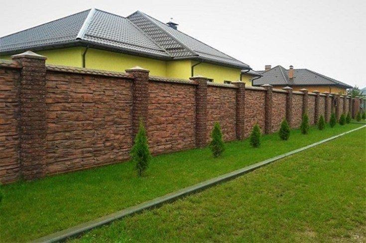(+59 фото) Забор для частного дома: разновидности и назначение