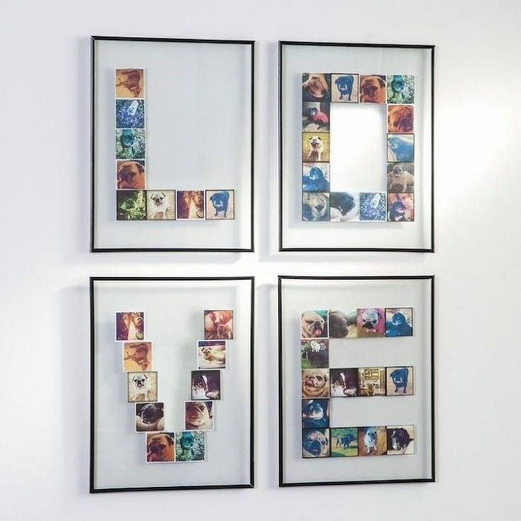 Оформление интерьера фотографиями рамки для фото и панно