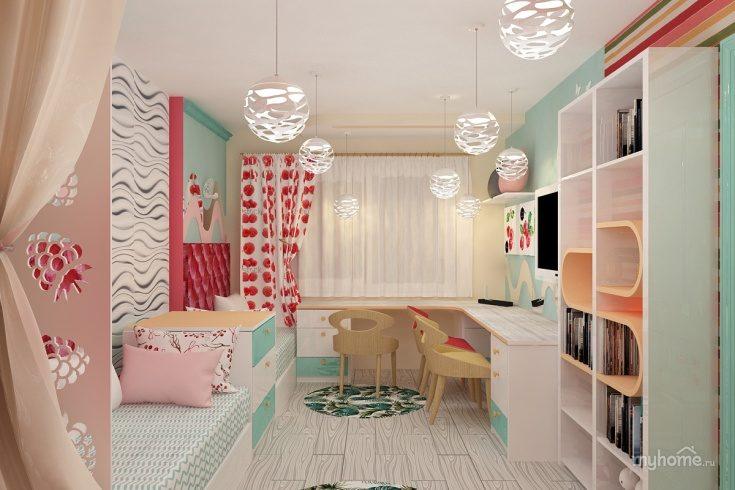 (+87 фото) Дизайн детской комнаты для двух девочек