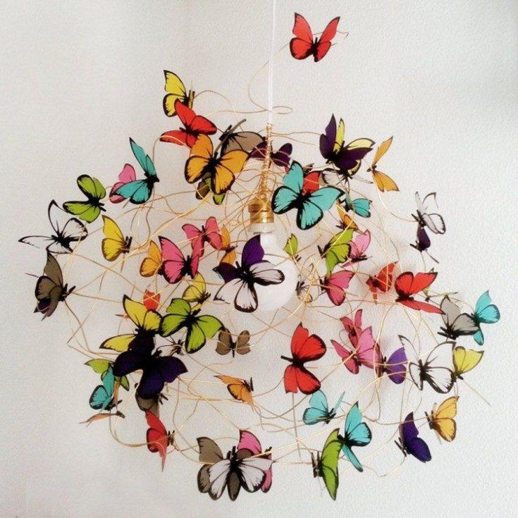 Декоративные бабочки на стену своими руками 65 фото