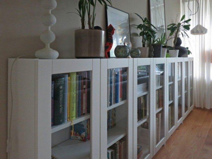 (+120 фото) Стеллажи икеа в современном интерьере квартиры 120 фото