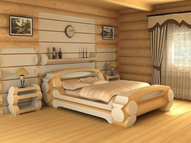 Кровати из дерева 56 фото в интерьере