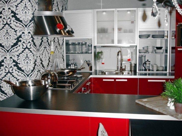 Обои для кухни: виды, выбор цвета и стиля (80 фото)