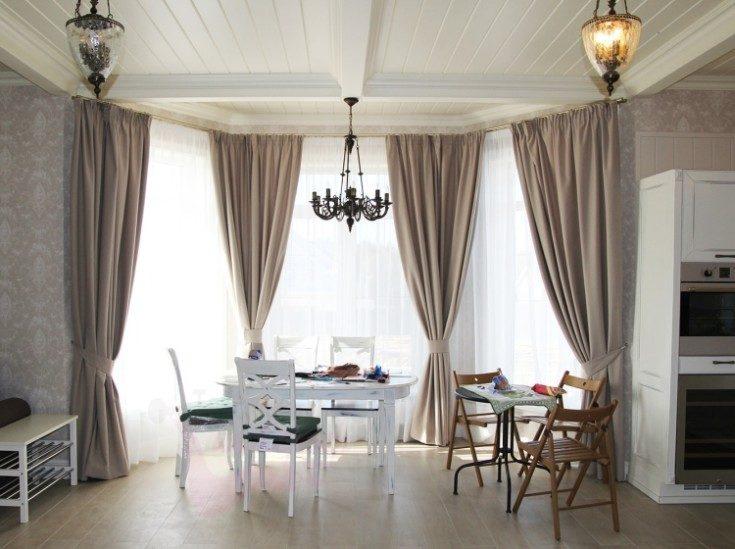 (+43 фото) Эркерные окна: разновидности и дизайн
