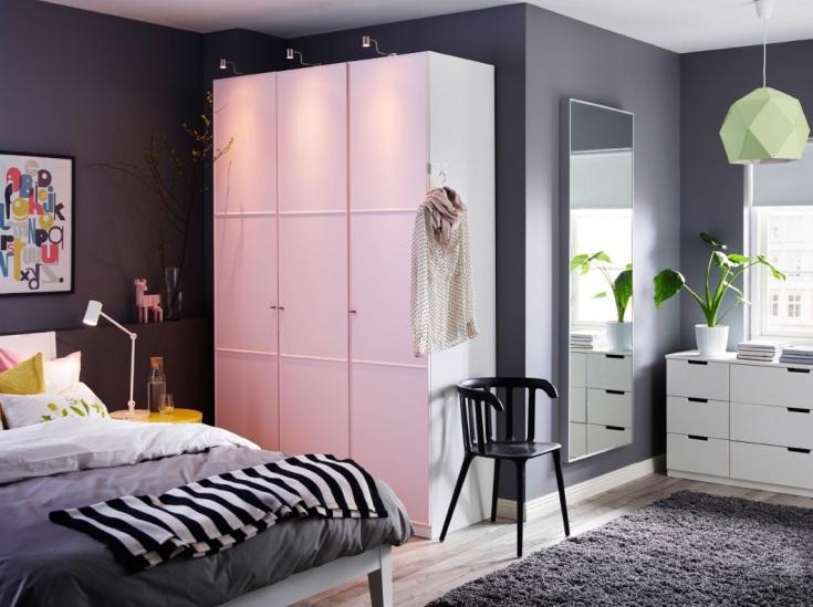 (+30 фото) Мебель Пакс в интерьере