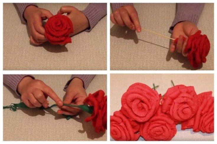 (+70 фото) Цветы из салфеток своими руками для интерьера 70 фото