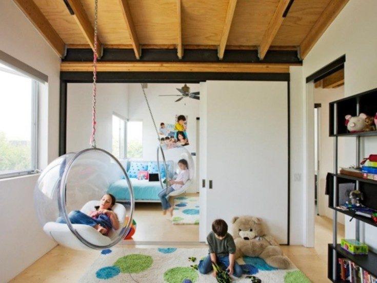 (+121 фото) Детские подвесные качели для дома своими руками