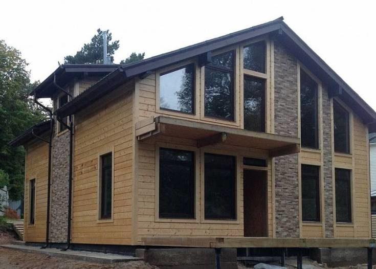 (+102 фото) Сравнение цен отделки фасадов частных домов современными материалами